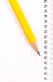 Pencil on a notebook Royalty Free Stock Photos
