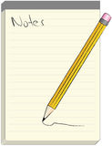 Pencil and Notebook. Illustration of a pencil and notebook Royalty Free Stock Photos