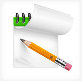 Pencil and notebook Royalty Free Stock Image