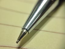 Pencil. On notebook Royalty Free Stock Photography