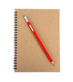 Pencil on notebook Stock Photography