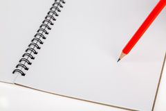 Pencil on notebook Royalty Free Stock Photo