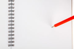 Pencil on notebook Royalty Free Stock Photos