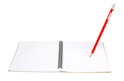Pencil on notebook Stock Image