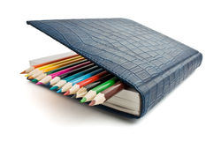 Pencil and notebook isolated Royalty Free Stock Images