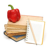 Pencil on notebook Stock Images