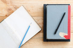 Pencil with notebook Royalty Free Stock Images