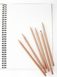 Pencil and notebook. Shot in studio Royalty Free Stock Images