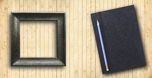 Pencil with notebook Royalty Free Stock Photography