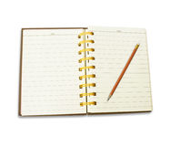 Pencil and Notebook . Stock Photography