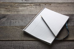 Pencil and Notebook Royalty Free Stock Photo