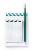 Pencil and notebooks. Stock Images