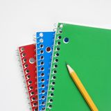 Pencil on notebooks Stock Image