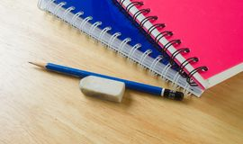 Pencil and notebooks Royalty Free Stock Images