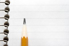 Pencil on a notepad Royalty Free Stock Photos