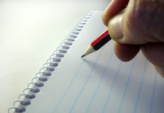 Pencil and notepad Royalty Free Stock Photography