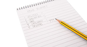 Pencil and Notepad II Royalty Free Stock Photos