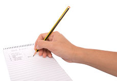 Pencil and Notepad III Royalty Free Stock Images