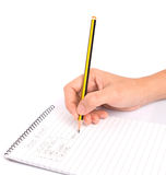 Pencil and Notepad IV Royalty Free Stock Photos