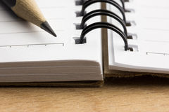 Pencil on the notepad Royalty Free Stock Photos
