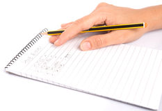 Pencil and Notepad VI Stock Images