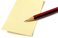 Pencil and notepaper Stock Photos