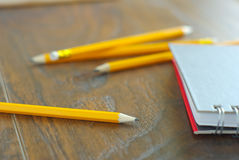 Pencil notepaper workplace Stock Photography