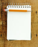 Pencil On Small Pad Of Paper Royalty Free Stock Image