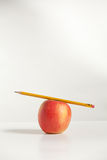 Pencil On Top An Apple Royalty Free Stock Photo