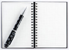Pencil on open note book Royalty Free Stock Photo