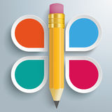 Pencil 4 Options Infographic Royalty Free Stock Images