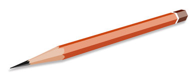 The pencil orange. Royalty Free Stock Images