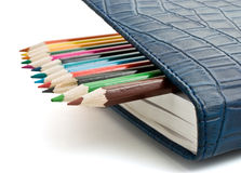 Pencil and organizer Stock Image