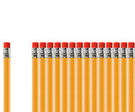 Pencil out of row Stock Photos