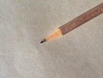 Pencil over paper Stock Photography