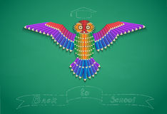 Pencil owl Stock Image