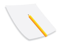 Pencil paper Royalty Free Stock Image