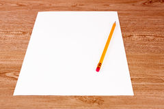 Pencil and paper Royalty Free Stock Images