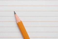Pencil on paper Royalty Free Stock Image