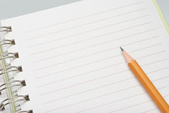 Pencil on paper Royalty Free Stock Photos