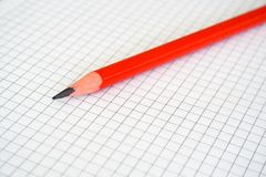 Pencil & paper Royalty Free Stock Photography