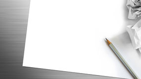 Pencil and paper background Stock Images