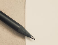 Pencil and Paper Royalty Free Stock Photos