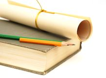 Pencil and paper book Royalty Free Stock Photography