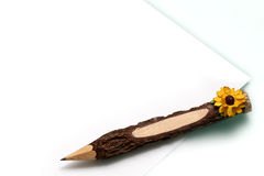 Pencil and paper note Stock Photos