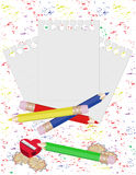 Pencil and paper for notes. Vector illustration Stock Image