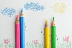 Pencil parents and children