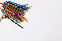Pencil and pastel. Drawing supplies, pencil and pastel Stock Photos