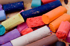 Pencil and pastel. Drawing supplies, pencil and pastel Royalty Free Stock Photography