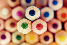 Pencil and pastel. Drawing supplies, pencil and pastel Stock Photo